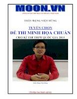 sách luyện đề toán thi THPT QG 2015