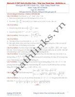 Đề thi thử và cách giải môn toán thầy đặng thành nam (6)