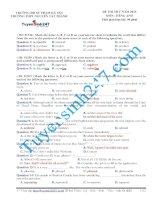 Đề thi thử THPT Quốc Gia môn Tiếng Anh Nguyễn Tất Thành năm 2015