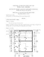ĐỀ thi tốt nghiệp cao đẳng nghề ngành kỹ thuật xây dựng phần lý thuyết mã  (10)