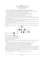 đề thi thử đại học môn sinh các trường THPT trên toàn quốc đề số  (4)