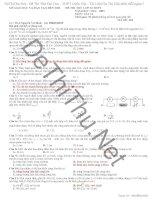 Đề thi thử và đáp án Vật Lý THPT Quốc Gia 2015 sở GD & ĐT Bến Tre
