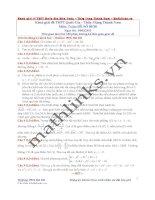 Đề thi thử và cách giải môn toán thầy đặng thành nam (5)