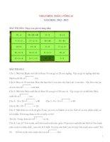 Đề thi violympic toán lớp 1 vòng 15   năm 2012 2013