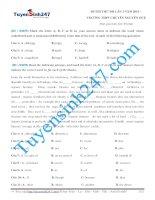 Đề thi thử THPT Quốc Gia môn Tiếng Anh Chuyên Nguyễn Huệ lần 1 năm 2015