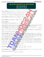 đề thi thử môn toán 2015 số 12 của toanhoc24h