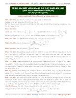 đề thi toán đặc biệt minh hoạ cho kì thi THPT quốc gia 2015
