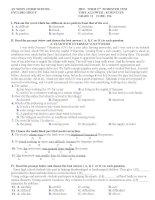 Kiểm tra 1 tiết lần 2 HKI, tiếng Anh  lớp 11