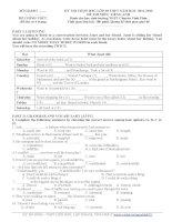Đề thi học sinh giỏi Tiếng Anh lớp 10 số 21