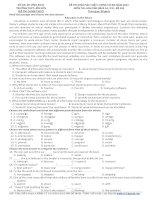 Đề khảo sát chất lượng môn Tiếng Anh lớp 12 ôn thi THPT Quốc gia số 240