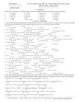 Đề thi học sinh giỏi Tiếng Anh lớp 10 số 12
