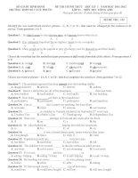 Tổng hợp đề thi HKI tiếng Anh lớp  11 (With key)