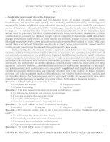 3 đề thi thử ĐẠI HỌC môn ANH 2015 có KEY và giải thích chi tiết