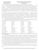 Đề khảo sát chất lượng môn Tiếng Anh lớp 12 ôn thi THPT Quốc gia số 224
