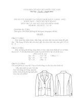bộ đề thi tốt nghiệp lý thuyết ngành may và thiết kế thời trang cao đẳng nghề đề số  (22)