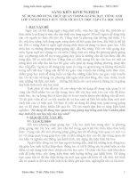 SÁNG KIẾN KINH NGHIỆM SỬ DỤNG ĐỒ DÙNG TRỰC QUAN TRONG GIẢNG DẠY TIẾNG ANH LỚP 3 NHẰM PHÁT HUY TÍNH TÍCH CỰC HỌC TẬP CỦA HỌC SINH
