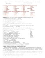 Đề luyện thi Tiếng Anh lớp 11 số 73