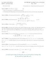 đề thi thử đại học môn toán lần 3 năm 2014 thầy Đinh Tiến Dũng
