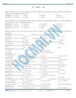 đề thi thử đại học môn tiếng anh 2015 số 4