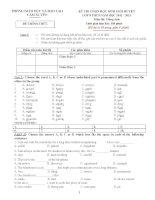 Đề thi học sinh giỏi Tiếng Anh 8 số 2