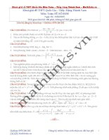 Đề thi thử và cách giải môn toán thầy đặng thành nam (4)