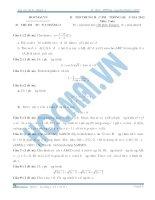 đề thi thử toán tuần 2 tháng 3 năm 2015 của học mãi