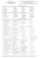 Đề luyện thi học sinh giỏi tiếng Anh lớp 9 số 10