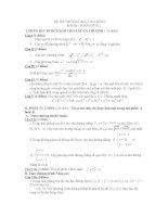 thi thử đại học môn toán, đề 92