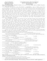Đề khảo sát chất lượng môn Tiếng Anh lớp 12 ôn thi THPT Quốc gia số 223
