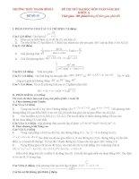 đề thi thử môn toán ôn thi đhcđ năm 2011 đề số 15