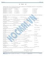 đề thi thử đại học môn tiếng anh 2015 số 5