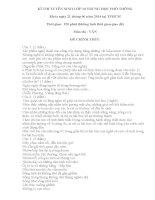 Đề thi ngữ văn lớp 9 vào 10 tham khảo sưu tầm bồi dưỡng ôn thi (21)