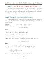 4 dạng Toán SỐ PHỨC tiêu biểu trong các đề thi ĐẠI HỌC (Có lời giải)