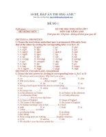 10 đề và đáp án thi anh 7