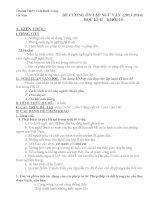 ĐỀ CƯƠNG ÔN TẬP NGỮ VĂN  (20132014)                   HỌC KÌ II    KHỐI 10