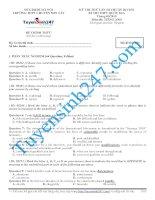 Đề thi thử THPT Quốc Gia môn Tiếng Anh Sơn Tây lần 3 năm 2015