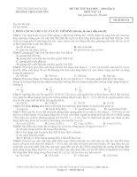 Đề thi thử Vật lí lần 2 - 2014 - Chuyên Sư phạm