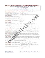 Đề thi thử và cách giải môn toán thầy đặng thành nam (13)