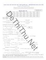 Giải chi tiết đề thi thử môn Hóa chuyên Đại Học Vinh lần 4 năm 2015