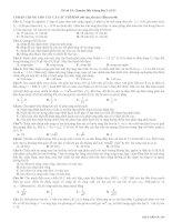 Đề thi thử đại học môn Vật Lý (18)