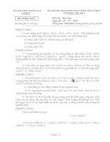 Tập đề  tham dự đề thi học sinh giỏi lớp 12 môn hoá học