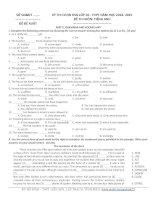 Đề thi học sinh giỏi Tiếng Anh lớp 10 số 11