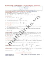 Đề thi thử và cách giải môn toán thầy đặng thành nam (10)