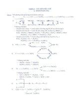 Phân dạng và phương pháp giải bài tập Hóa học 9