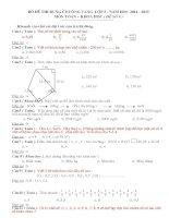 Đề thi Rung Chuông Vàng lớp 5 năm 2014 2015 môn toán và khoa học