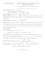 đề toán thi thử năm 2015 của nam định đề số 2
