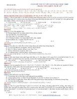 Giải chi tiết đề hoá đại học khối B năm 2009