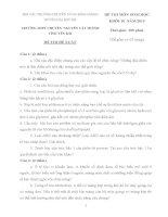 ĐỀ THI (ĐỀ XUẤT) HỌC SINH GIỎI CÁC TRƯỜNG CHUYÊN VÙNG DUYÊN HẢI VÀ ĐỒNG BẰNG BẮC BỘ  NĂM 2015 MÔN SINH HỌC KHỐI 10 TRƯỜNG CHUYÊN NGUYỄN TẤT THÀNH LÀO CAI