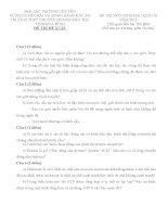 ĐỀ THI (ĐỀ XUẤT) HỌC SINH GIỎI CÁC TRƯỜNG CHUYÊN VÙNG DUYÊN HẢI VÀ ĐỒNG BẰNG BẮC BỘ  NĂM 2015 MÔN SINH HỌC TRƯỜNG CHUYÊN HÒA BÌNH