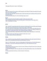 Tổng hợp đề thi môn quản trị chất lượng (2010) đại học thương mại